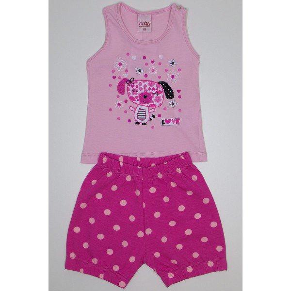 cb32a57a1c conjunto infantil feminino rosa com shorts pink poa lik 1818 ros 01