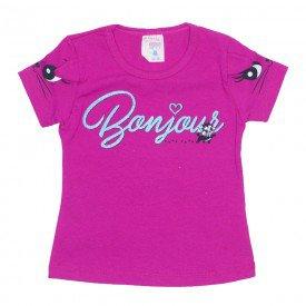 blusa menina de cotton rosa com estampa na manga e detalhe orelhinha 01