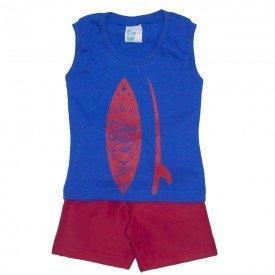 conjunto masculino regata machao meia malha azul com shorts tactel 01