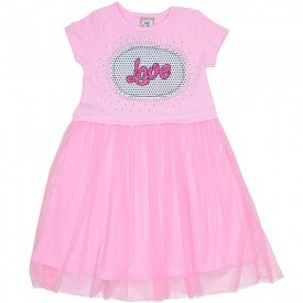 vestido love strass cottontule rosa car 3354 ros 01