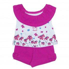 conjunto blusa ciganinha branca com shorts pink ale 2407 bra 01