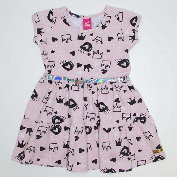 vestido cotton rodado princesas rosa ana 3524 ros 01