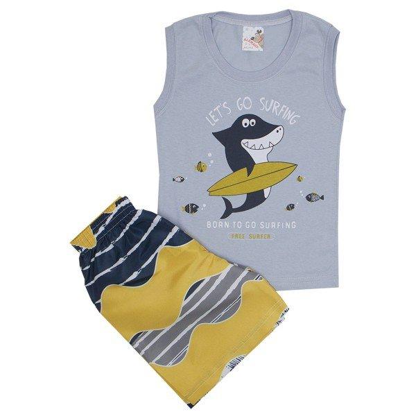 ... 01  conjunto masculino regata cinza surf e shorts tactel amarelo ale  7406 cin 02 a9ee337fd76