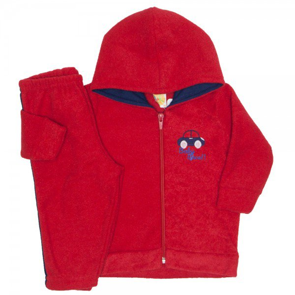 conjunto boucle baby race vermelho 9506