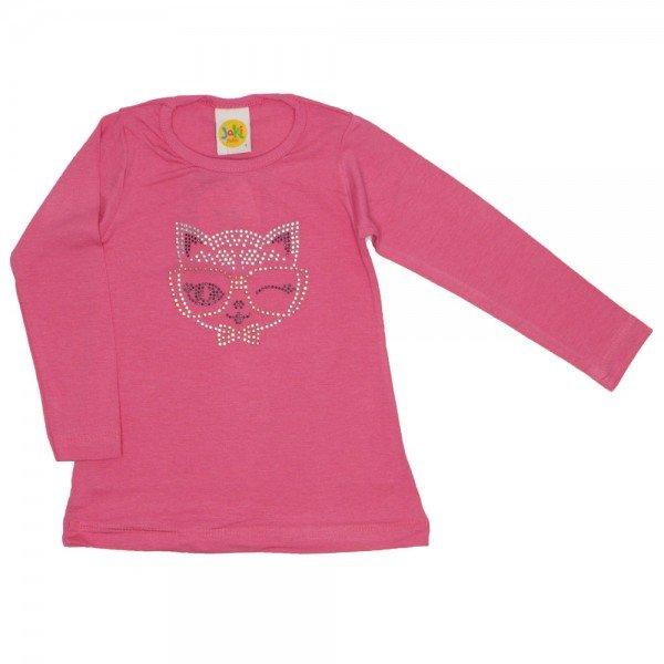 blusa viscolycra gatinha strass salmao 9511