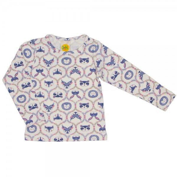 blusa estampadinha mini floresta off 9512