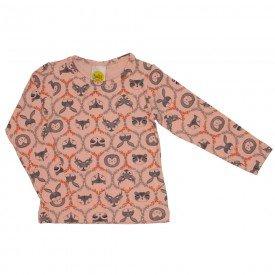 blusa estampadinha mini floresta salmao 9512