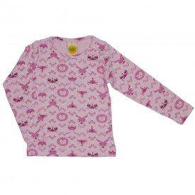 blusa estampadinha mini floresta rosa 9512
