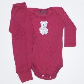 eacb87c92 Conjunto Body Cotton Chiclete/Mescla Banana Silk de Elefante com Shorts de  Moletinho 3857
