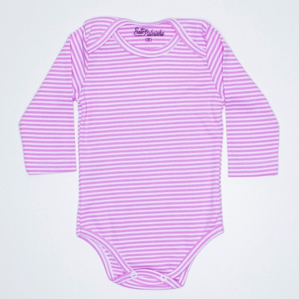 body manga longa listrado rosa bat 329 ros 1