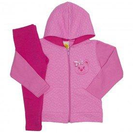 conjunto matelasse ursinho pink 9518