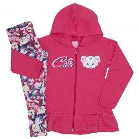 conjunto moletom cute bear vermelho 9520