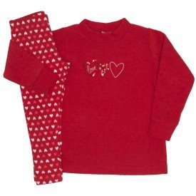 conjunto boucle love vermelho 9521