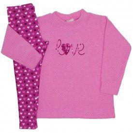 conjunto boucle love rosa 9521