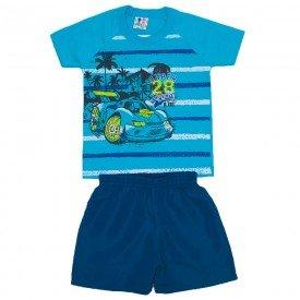 conjunto menino algodao azul vivo shorts de tactel azul jeans wki 269 azu 01