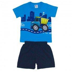 conjunto menino algodao azul vivo shorts de tactel azul jeans wki 271 azv 01