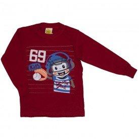 camiseta baseboll monkey vermelho 9522