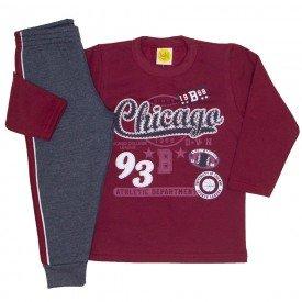 conjunto moletom chicago vermelho 9531