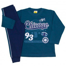 conjunto moletom chicago verde 9531