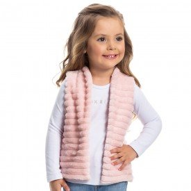 colete menina polar rosa 1180