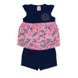 conjunto bata azul e rosa estampada com strass e shorts azul ale 3415 off 01