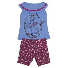 conjunto bata meia malha azul bebe com babado franzido e bermuda pink florida ale 3420 azu 01