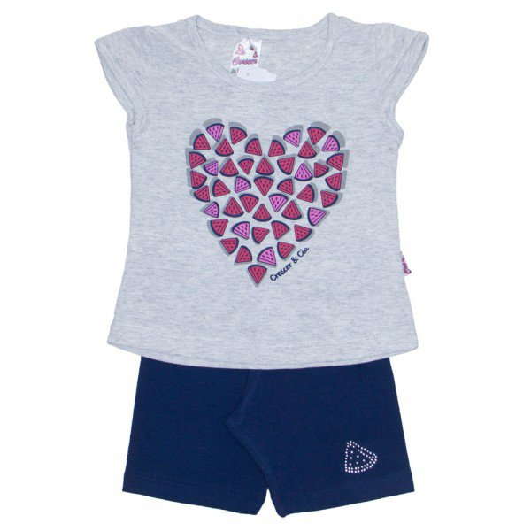 conjunto camiseta mescla coracao com shorts marinho 01