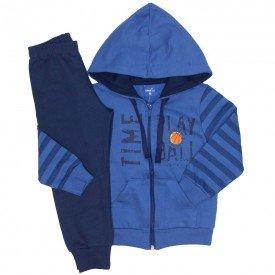 conjunto jaqueta moletom time azul 5273