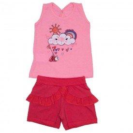 conjunto regata rosa bebe meia malha silk de nuvem e shorts de cotton com babados wil 3850 ros 01 1
