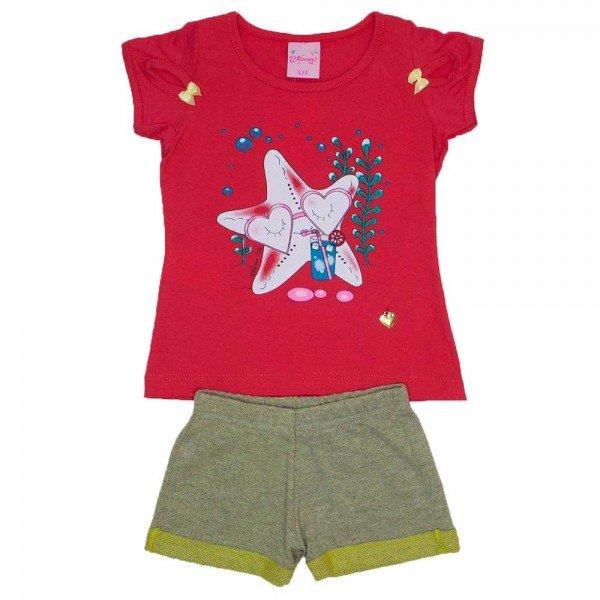 conjunto meia malha magenta silk estrela do mar com shorts de favo amarelo wil 3872 mag 01