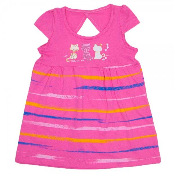 vestido meia malha rosa silk de gatos wil 3876 ros 01