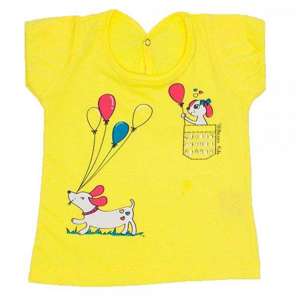 blusa mangas balone amarelo meia malha silk de cachorro wil 3863 ama 01