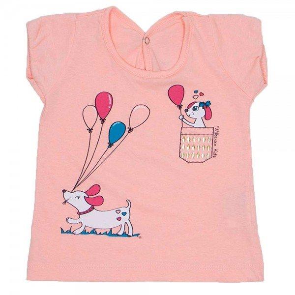 blusa mangas balone salmao meia malha silk de cachorro wil 3863 sal 01