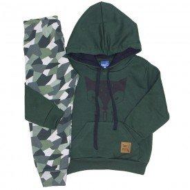 conjunto moletom fox camuflado verde militar 5268