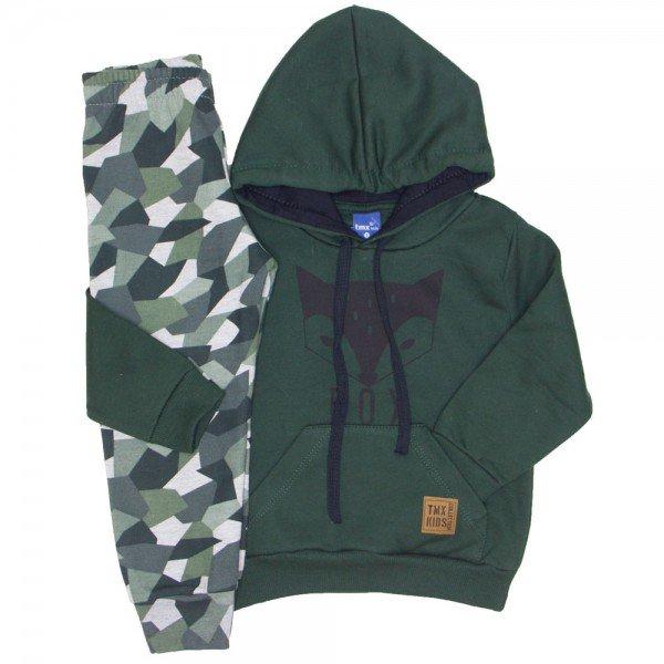 3e26c6b9d3 Conjunto Moletom Fox Camuflado Verde Militar 5268