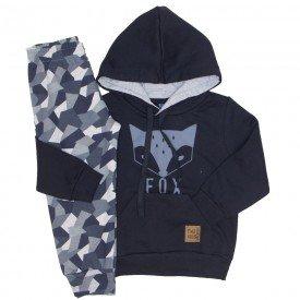 conjunto moletom fox camuflado preto 5268