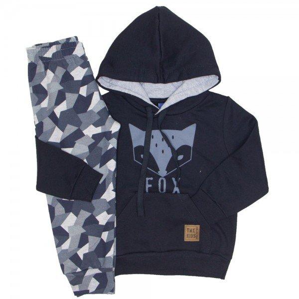 Conjunto Moletom Fox Camuflado Preto 5268 7b4b6f35af7