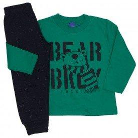 conjunto moletom bear verde 5269