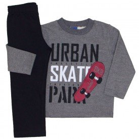 conjunto moletom urban skate chumbo 5275