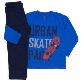 conjunto moletom urban skate azul 5275