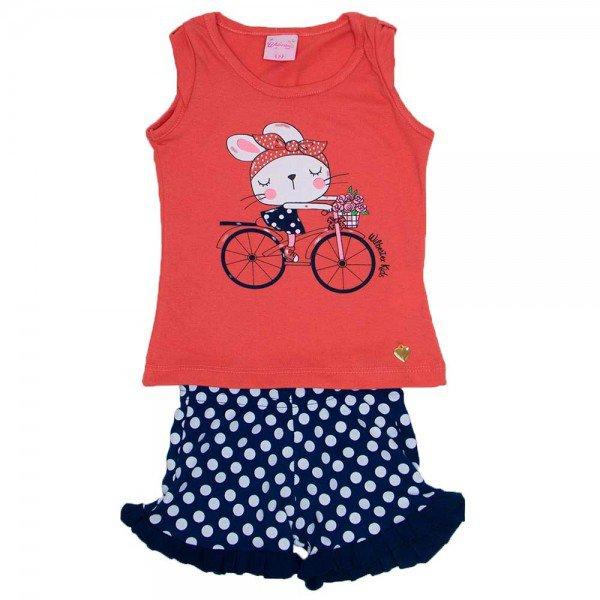 conjunto blusa meia malha papoula silk bicicleta com shorts em cotton marinho wil 3866 pap 01