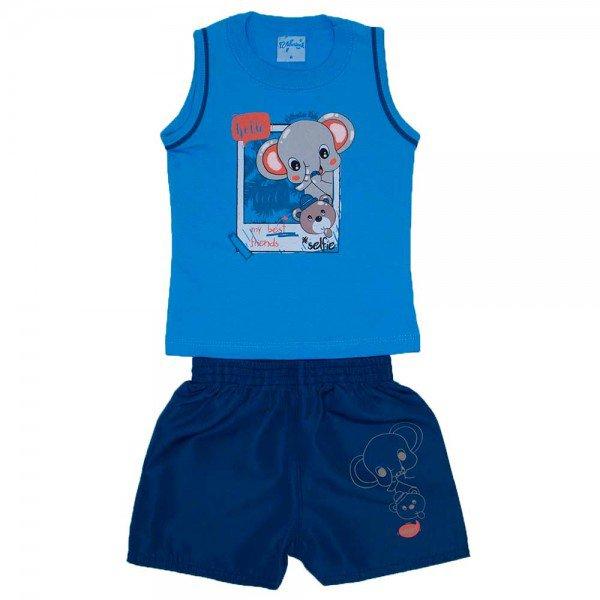 conjunto regata ceu azul silk elefante com bermuda tactel azul marinho wil 3921 azc 01 1