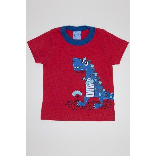 camisa meia malha tomate avulsa silk de dinossauro 3932 01