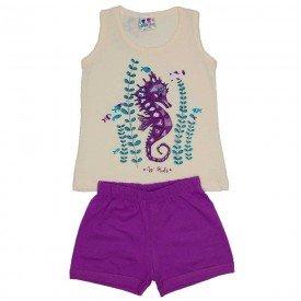 conjunto menina regata off estampa fundo mar com glitter e shorts lilas wkd 126 off 01