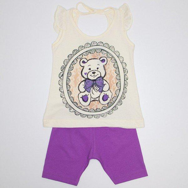 conjunto bebe menina off ursinho shorts lilas wkd 132 off 01
