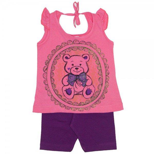conjunto bebe menina papoula ursinho shorts roxo wkd 132 pap 01 05