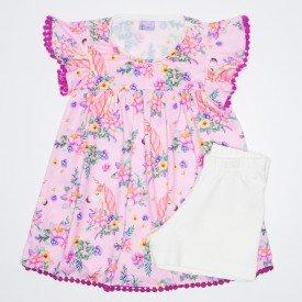 vestido crepe unicornios rosa 1014 que 1014 ros 01