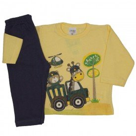 conjunto de moletom amarelo 3785