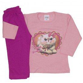conjunto de moletom rosa com pink 3775
