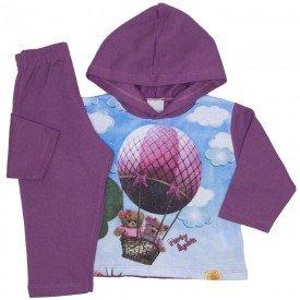 conjunto de moletom roxo purpura 3774